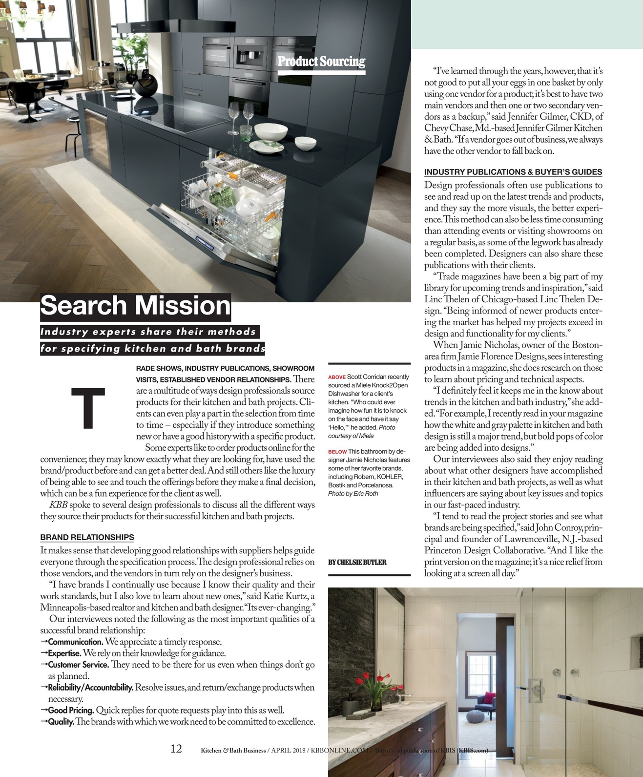 Kitchen & Bath Business - April 2018