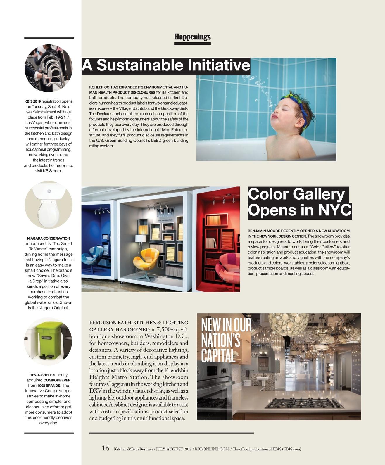 Awe Inspiring Kitchen Bath Business July August 2018 Interior Design Ideas Tzicisoteloinfo