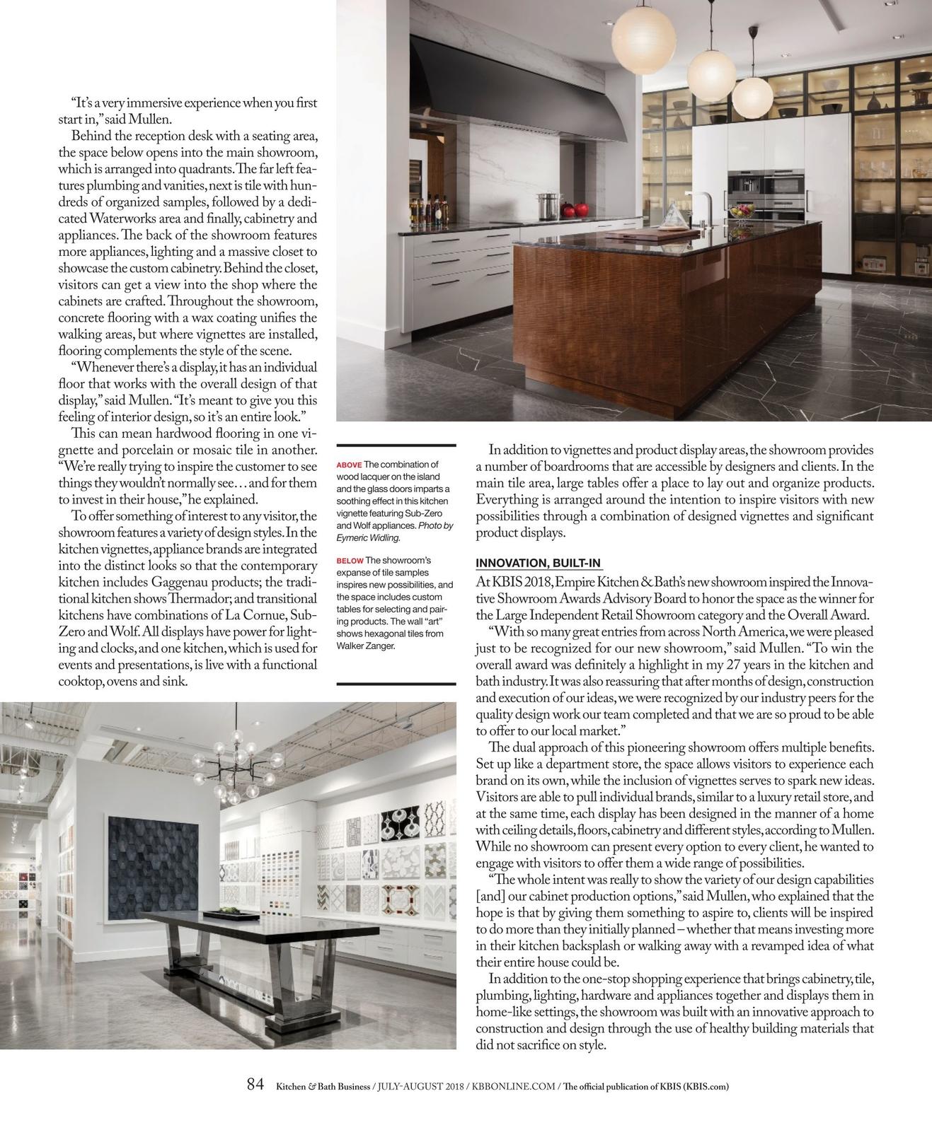 Swell Kitchen Bath Business July August 2018 Interior Design Ideas Tzicisoteloinfo