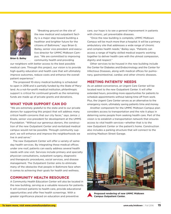 Maryland's Health Matters - Midtown - Fall 2016
