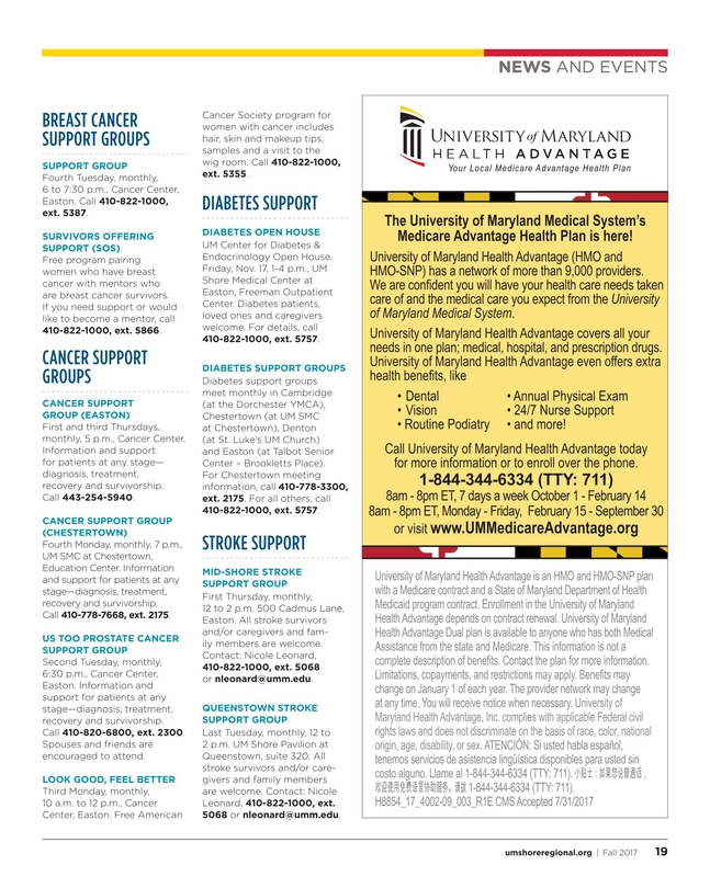 Maryland's Health Matters - Shore Chester - Fall 2017