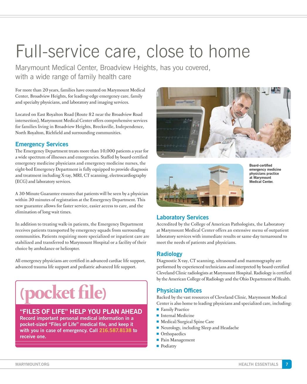 Health Essentials - Summer 2011 - Marymount