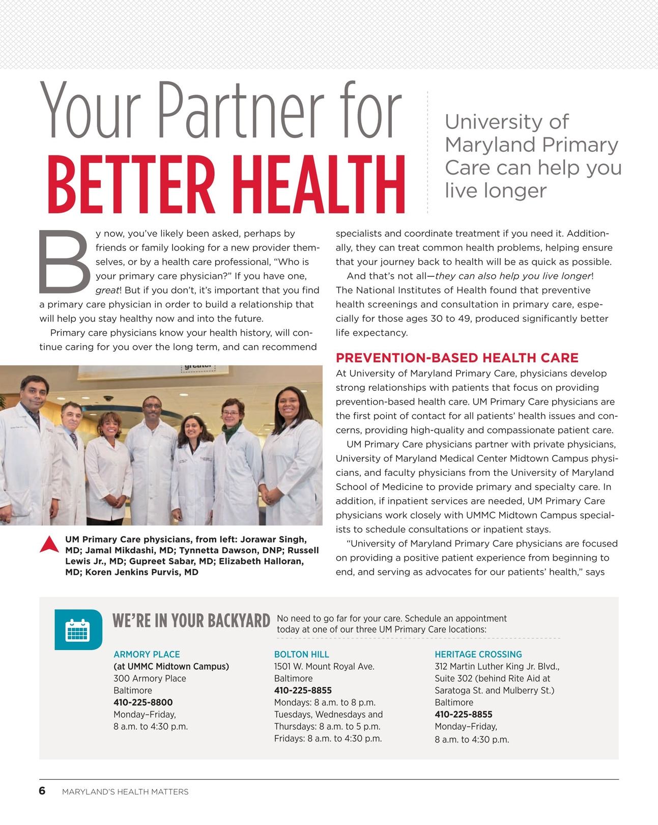 Maryland's Health Matters - Midtown - Summer 2014