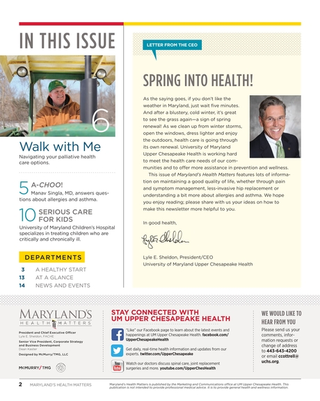 Maryland's Health Matters - Upper Chesapeake - Spring 2014