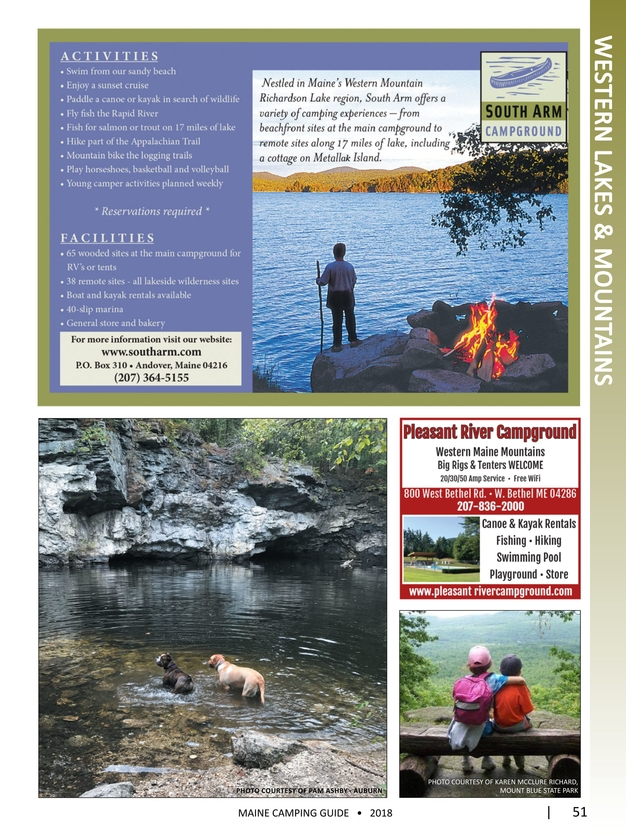 2018 Official Maine Camping Guide
