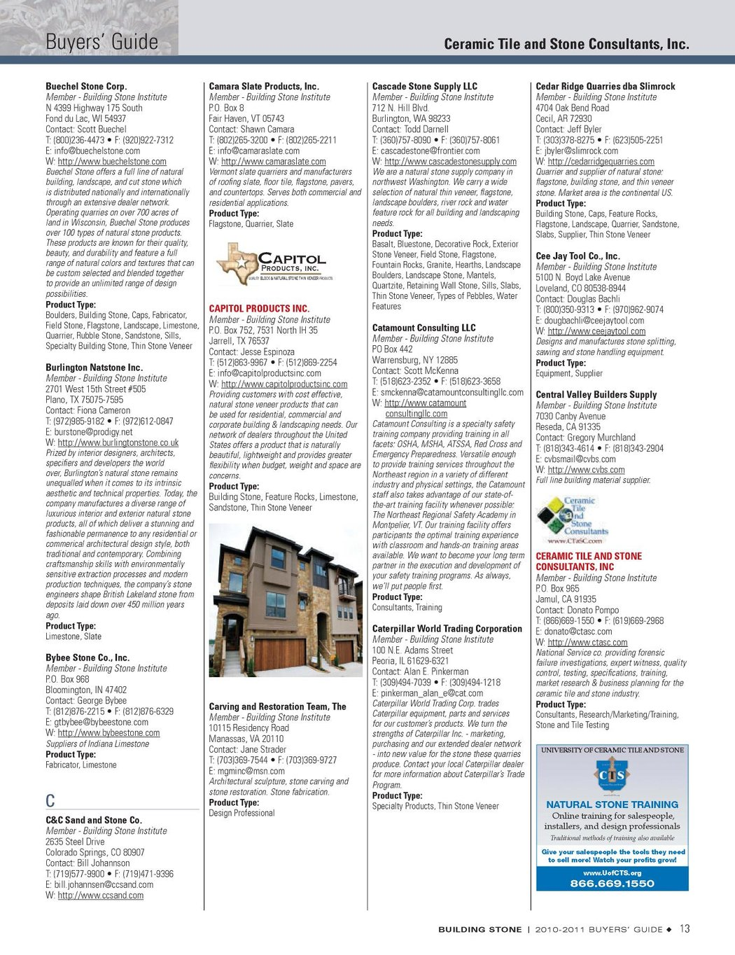 Building Stone Buyers Guide 2010