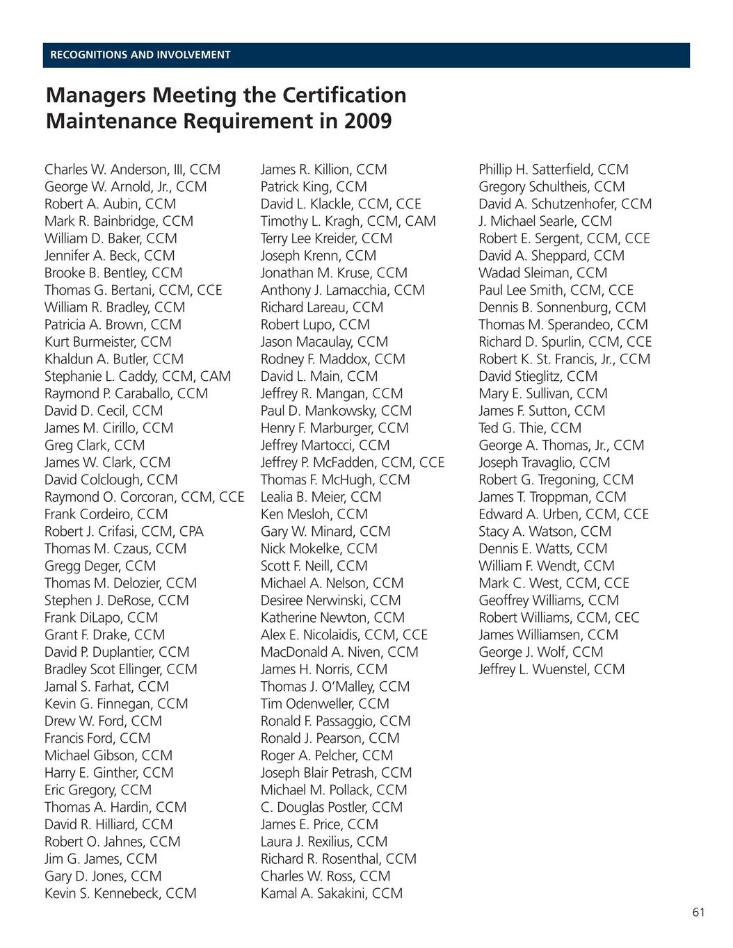 2010 2011 Cmaa Yearbook And Membership Directory