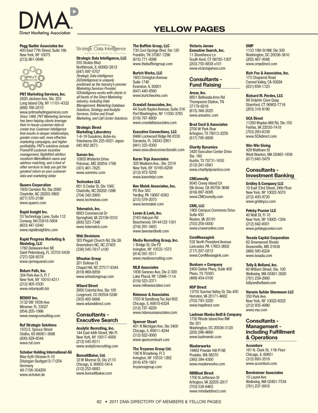 DMA 2011 Directory of Members & Yellow Pages