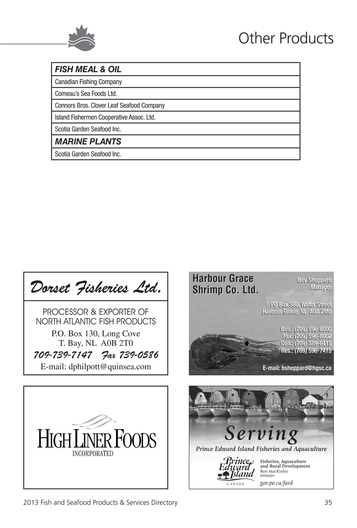 2013 Fish and Seafood Products & Services Directory