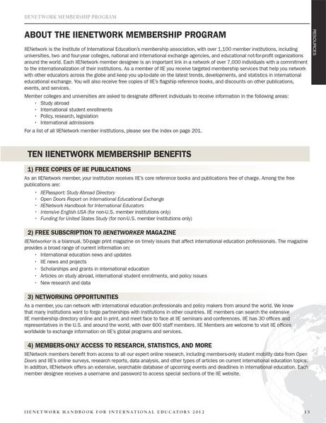 IIE Network Handbook 2012