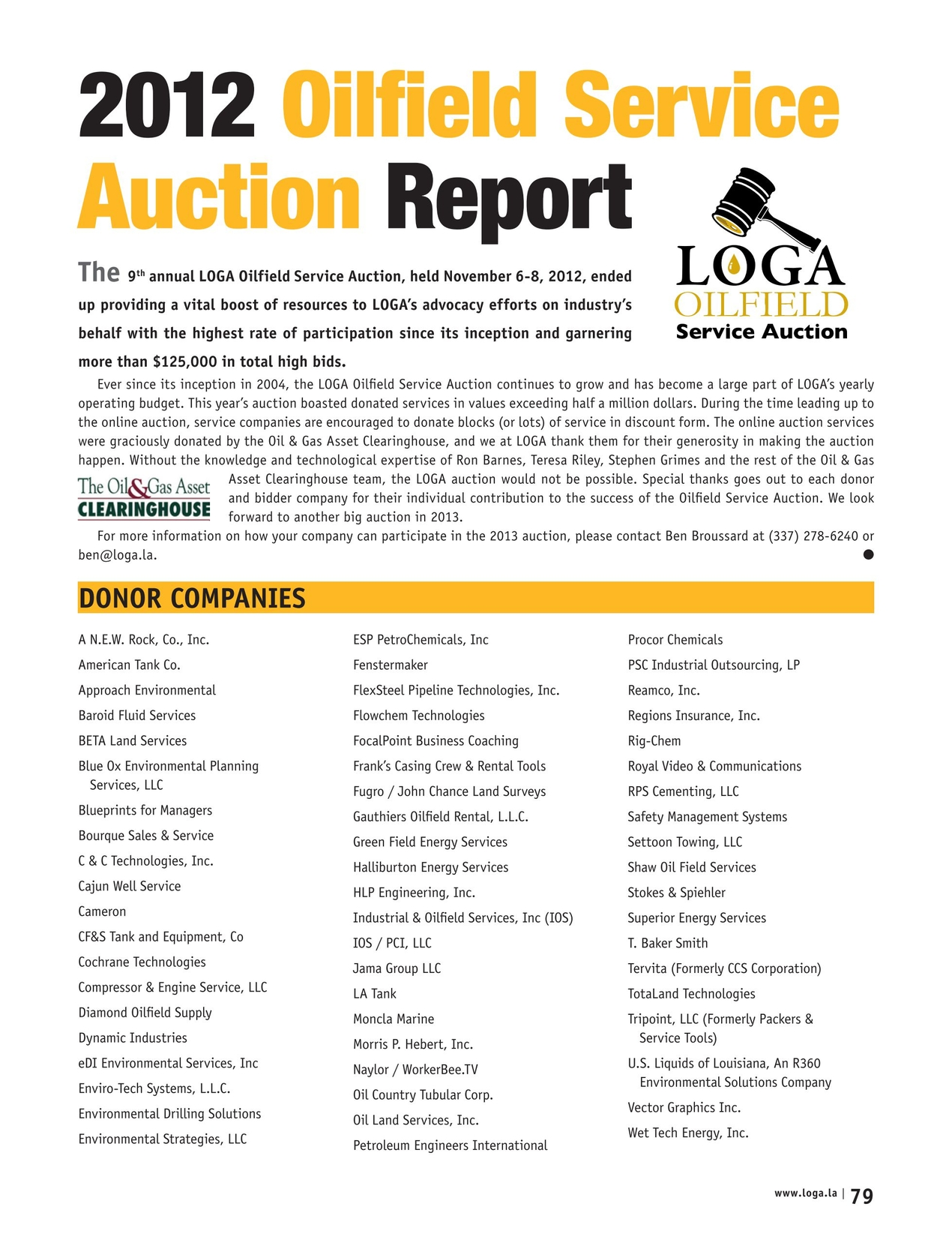 LOGA Industry Report - Winter 2013