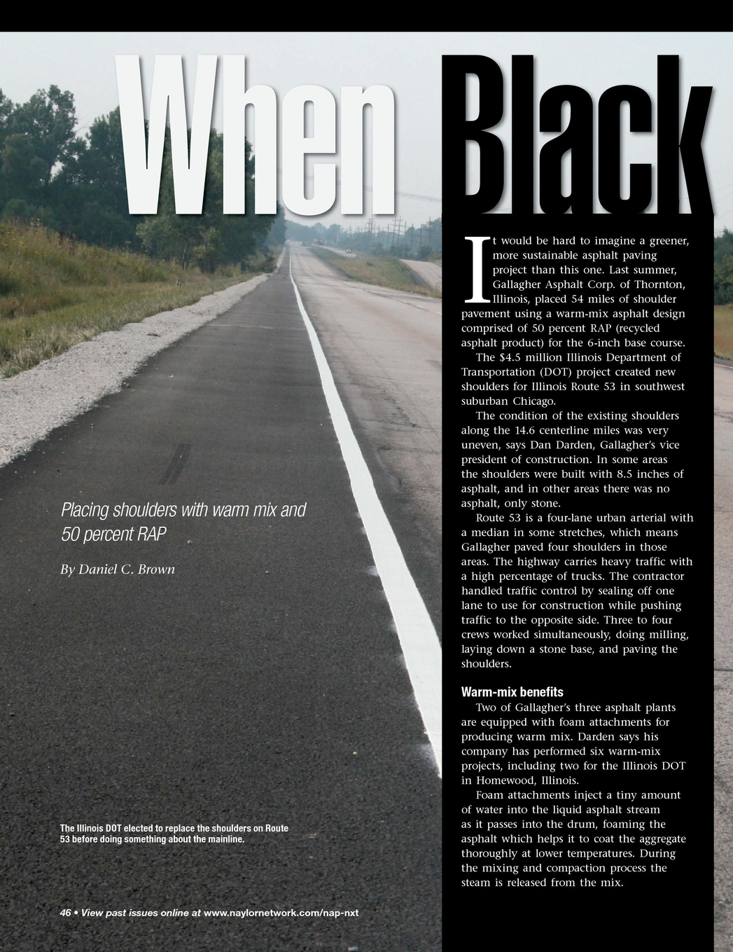 Asphalt Pavement Magazine - November/December 2011