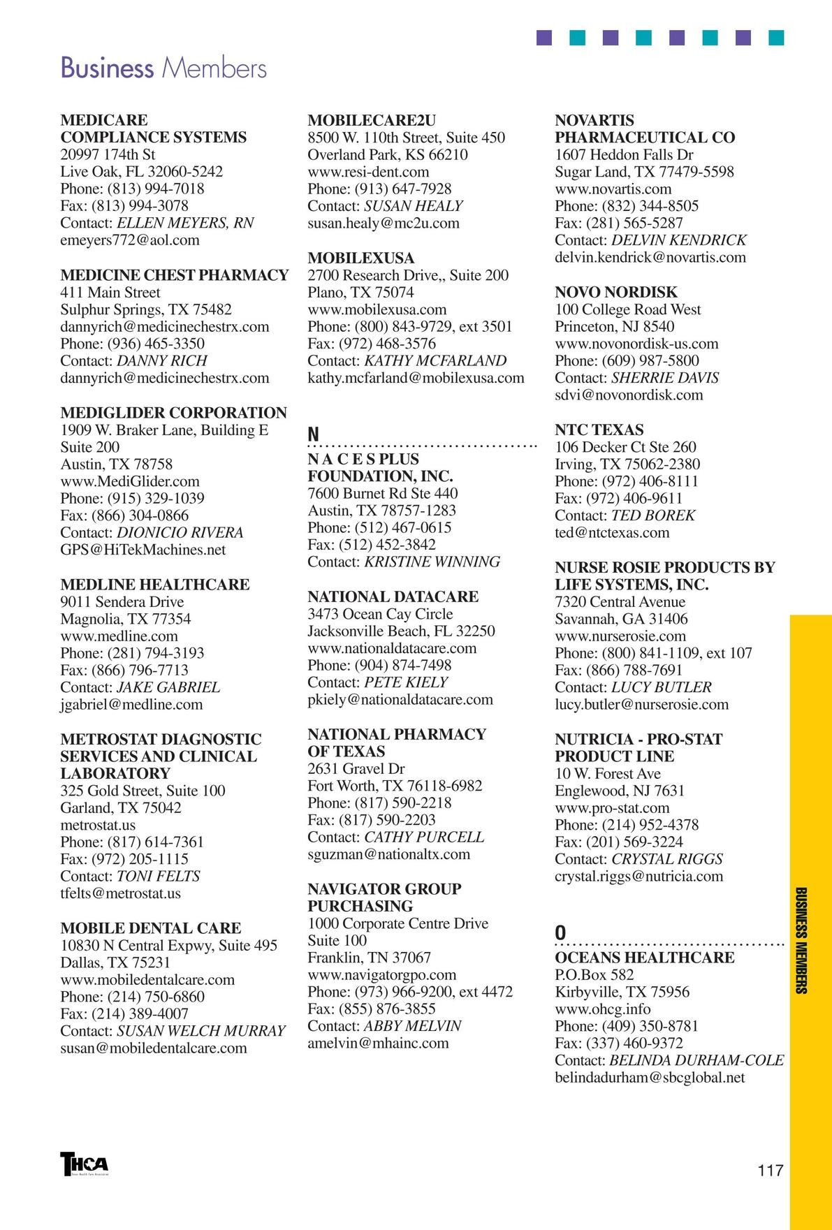 Texas Health Care Association - 2012/2013 Membership Directory