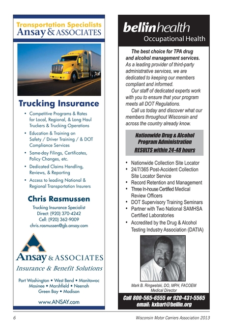 Wisconsin Motor Carriers Association Membership Directory 2013