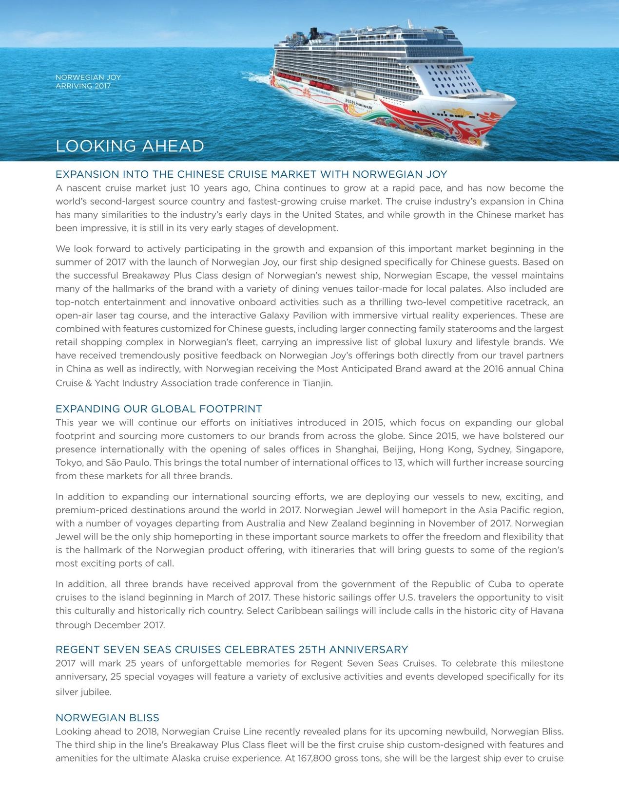 2016 Annual Report for Norwegian Cruiseline Holdings
