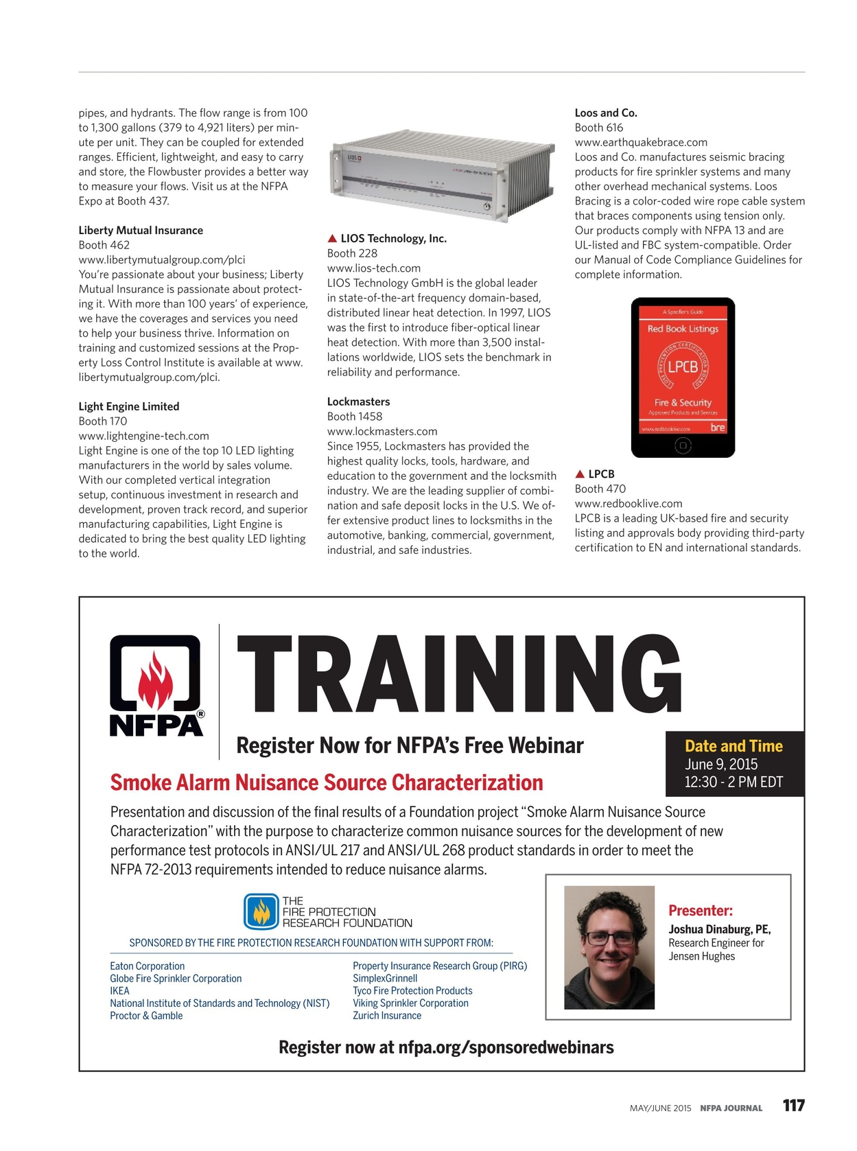 NFPA Journal - May/June 2015 [116 - 117]