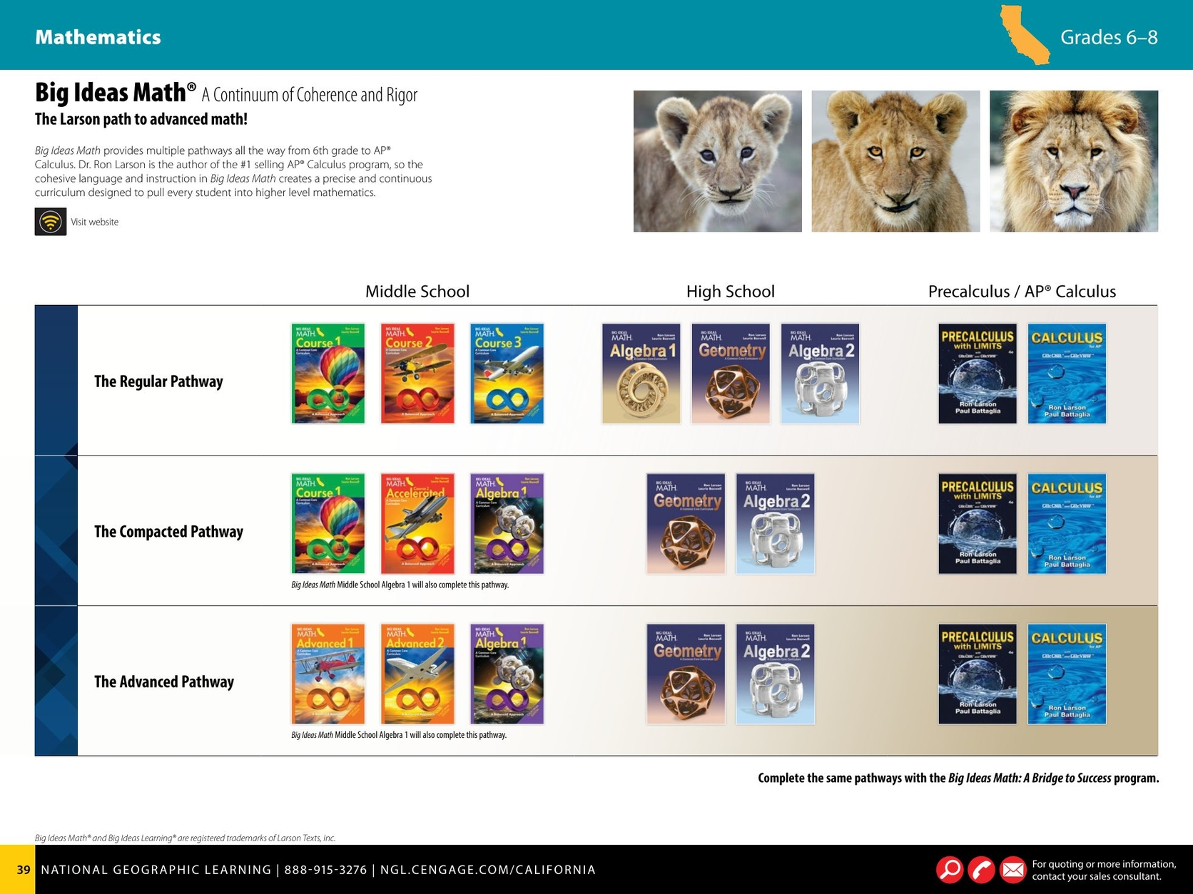 California Grades K-8 Catalog - 2017-2018