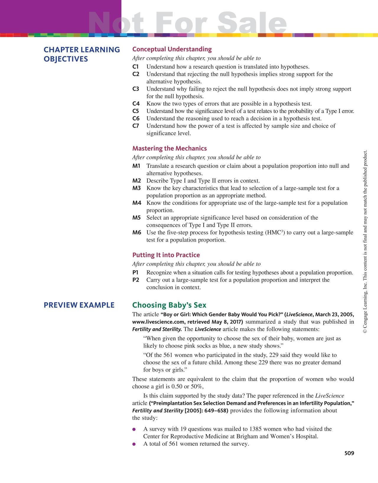 Statistics: Learning for Data, AP Edition, 2e Sampler