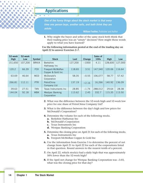 Financial Algebra - 14
