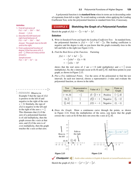 Precalculus With Limits Sampler