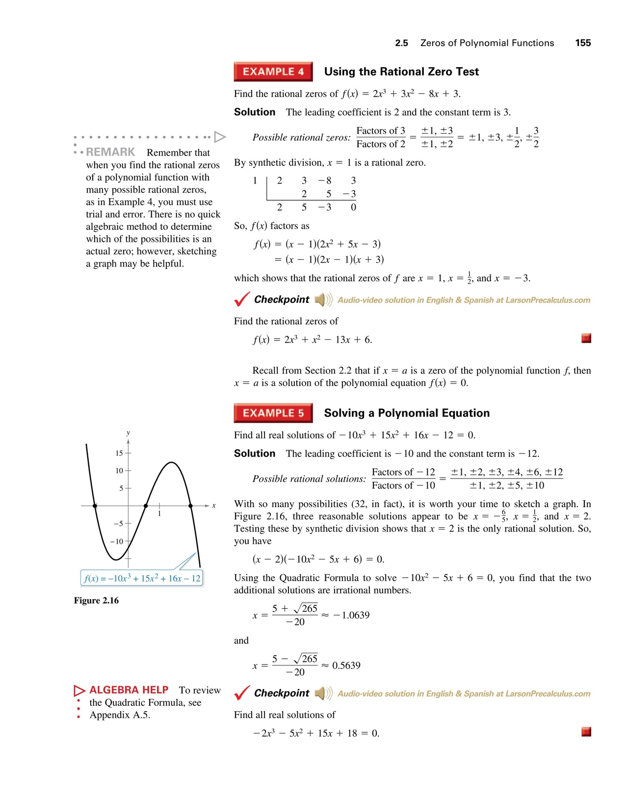 Precalculus With Limits - Sampler