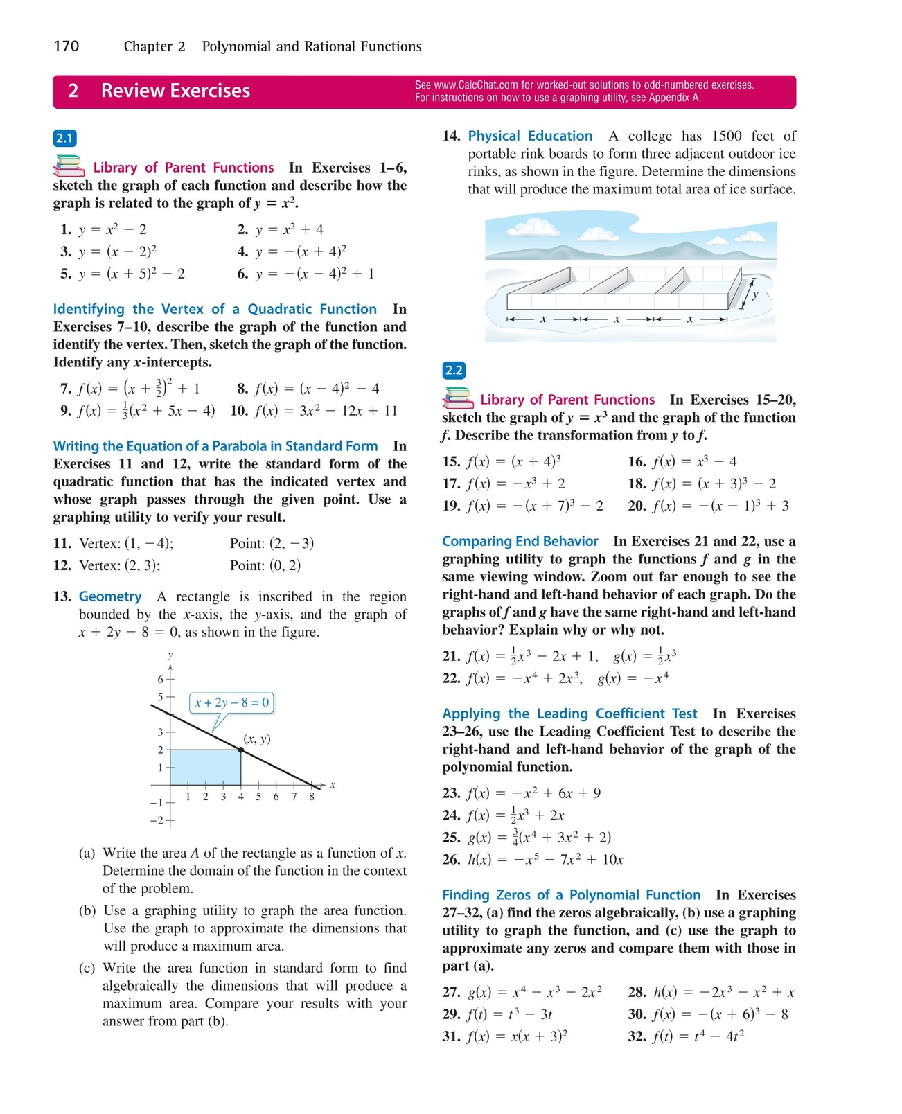 Precalculus with limits a graphing approach 170 171 precalculus with limits a graphing approach page 170 170 2 chapter 2 polynomial and rational functions see calcchat for worked out solutions falaconquin