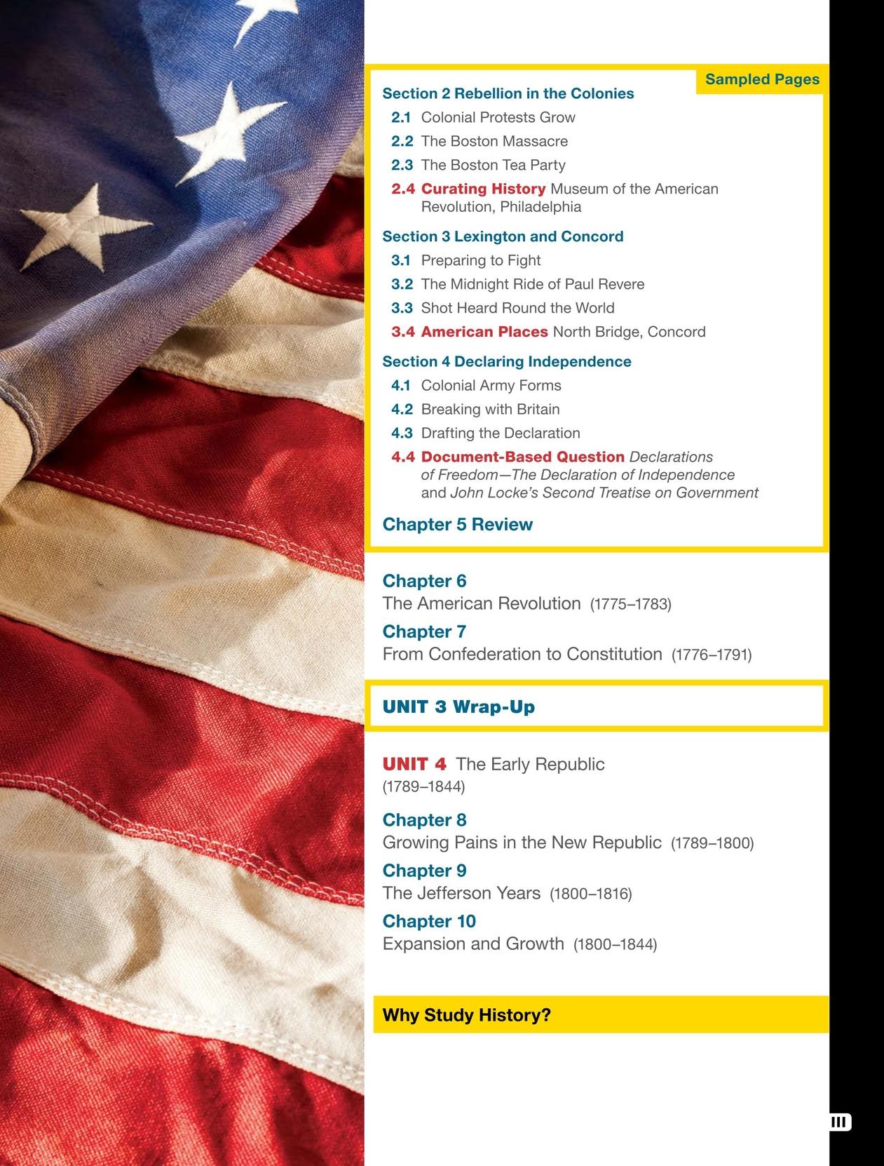 U S  History: American Stories SE Sampler