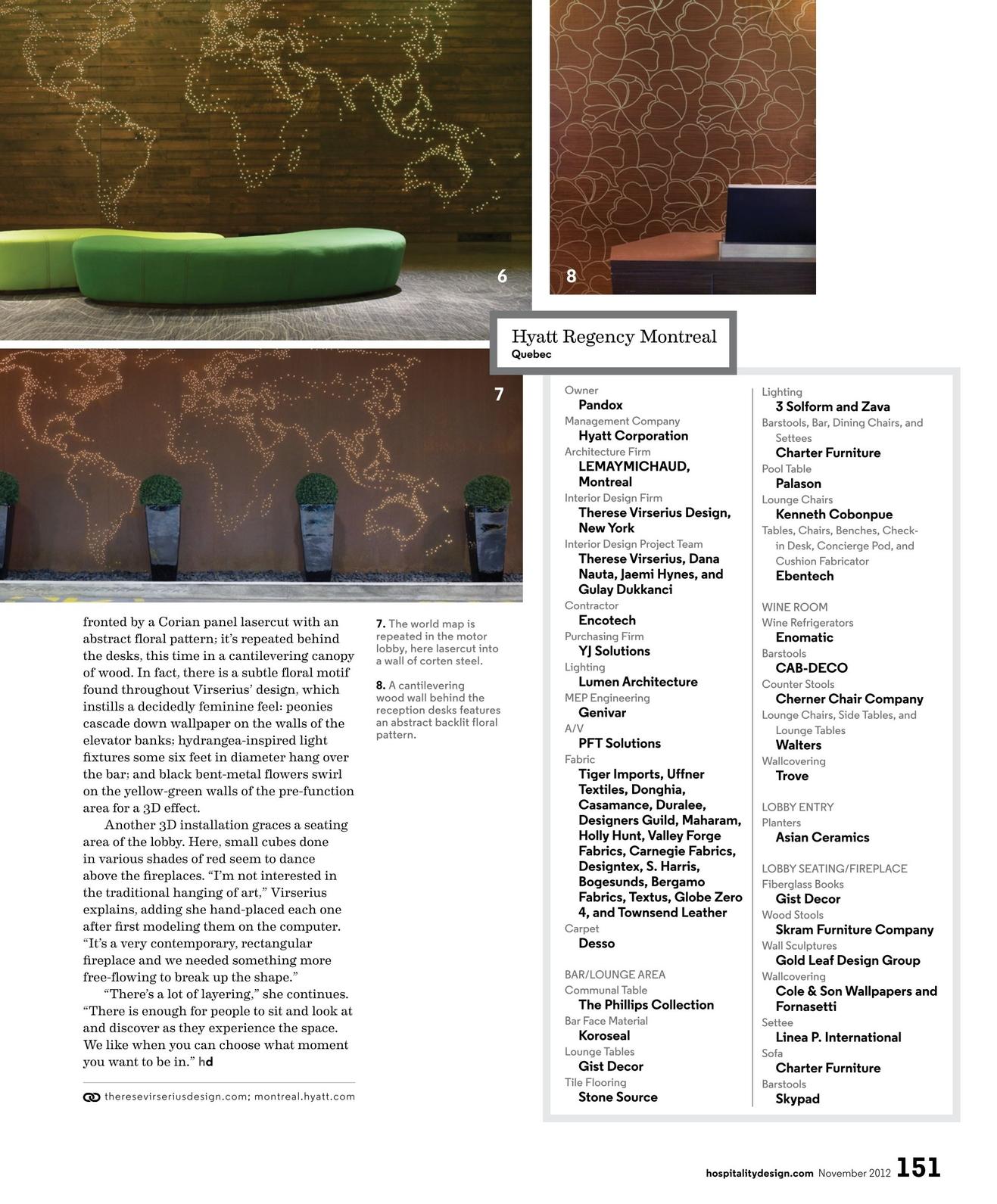Hospitality Design   November 2012