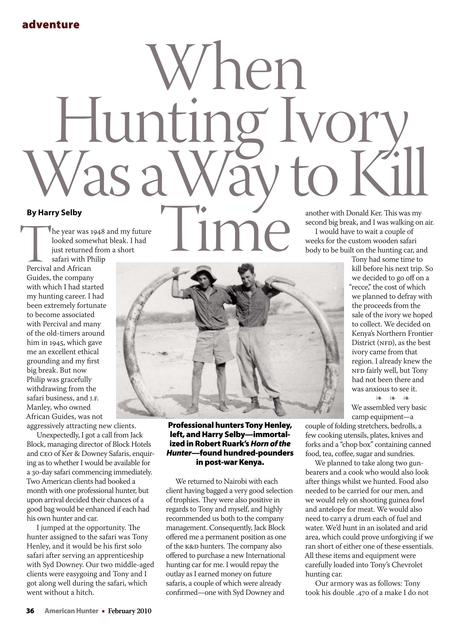 International Body Confirms It Our >> American Hunter February 2010