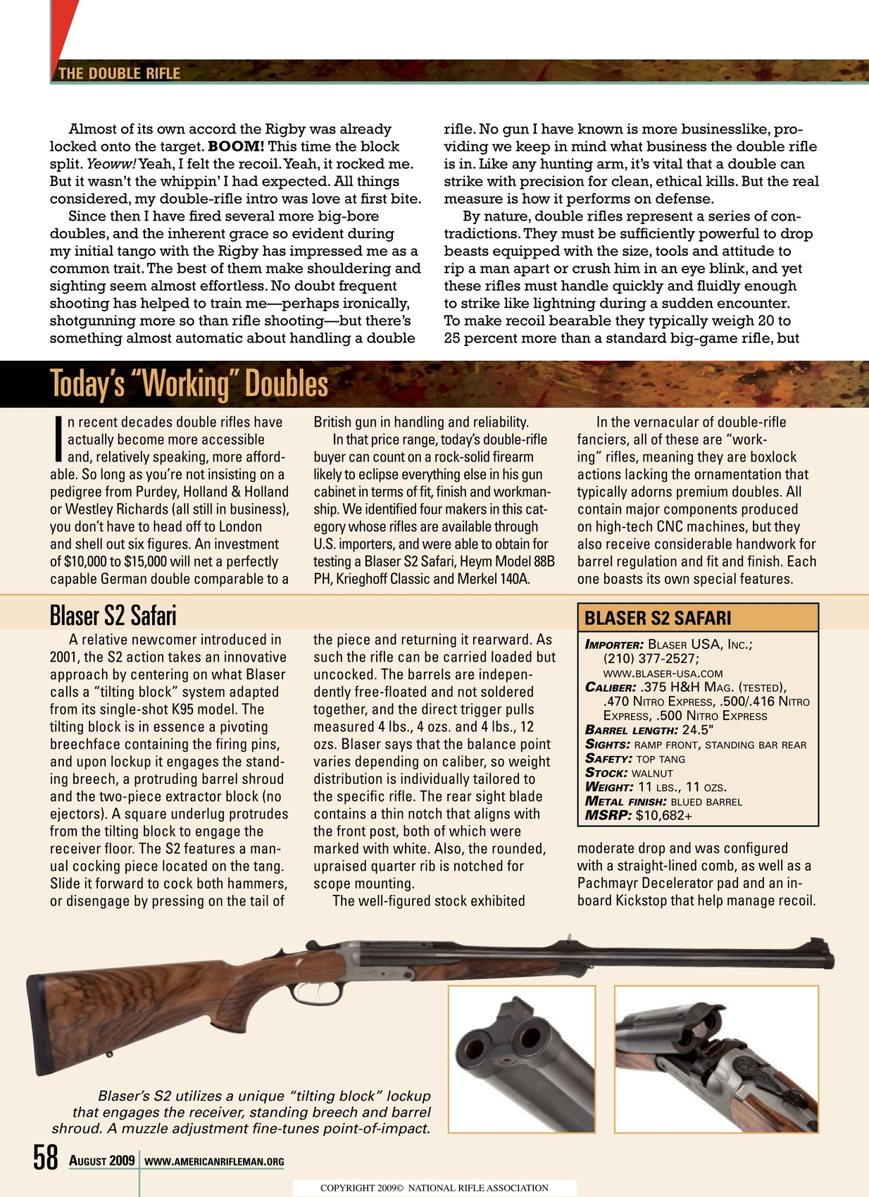American Rifleman - August 2009