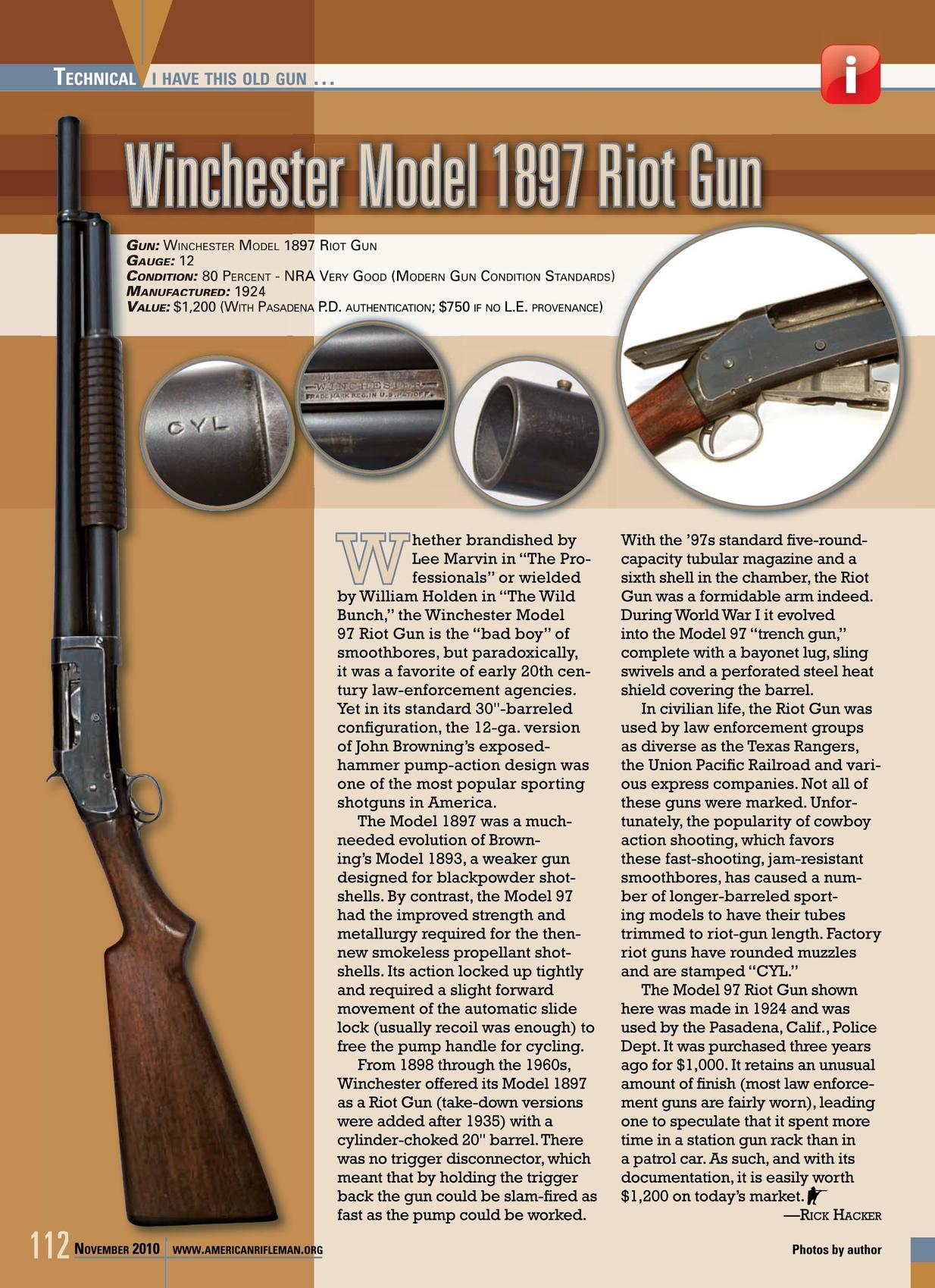American Rifleman - November 2010