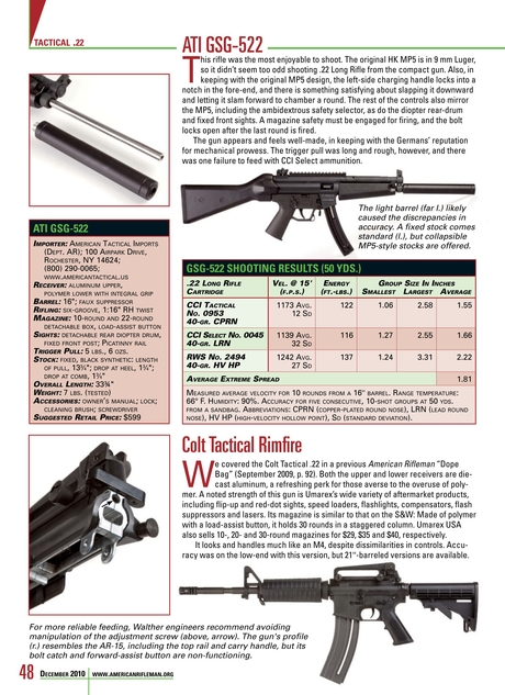 American Rifleman - December 2010