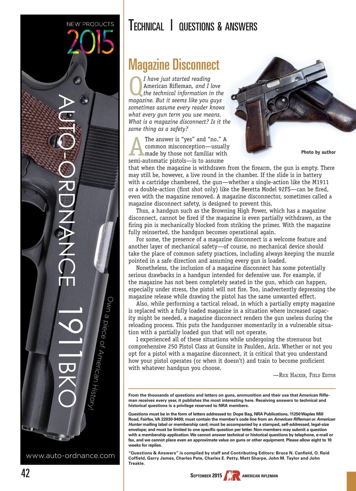 American Rifleman - September 2015