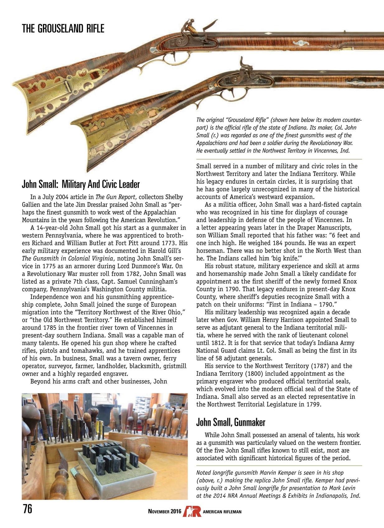 American Rifleman - November 2016
