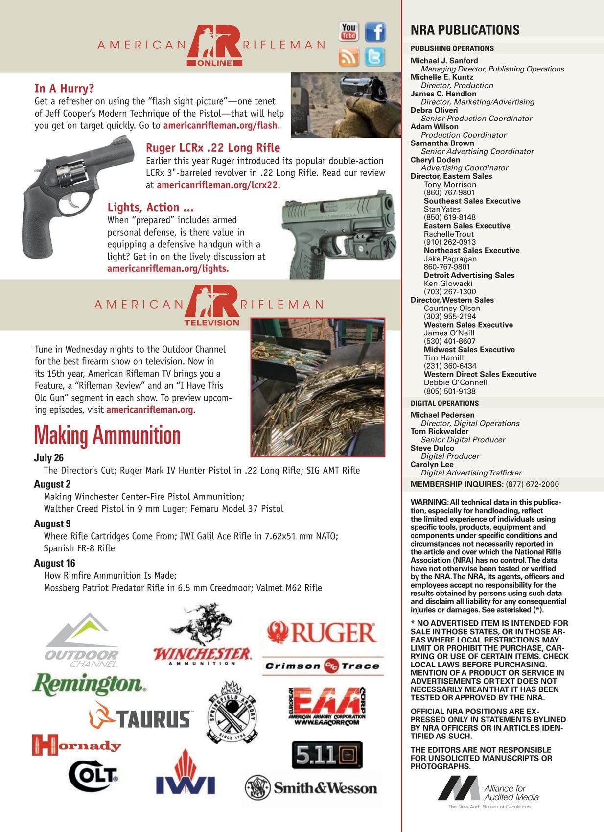 American Rifleman - August 2017