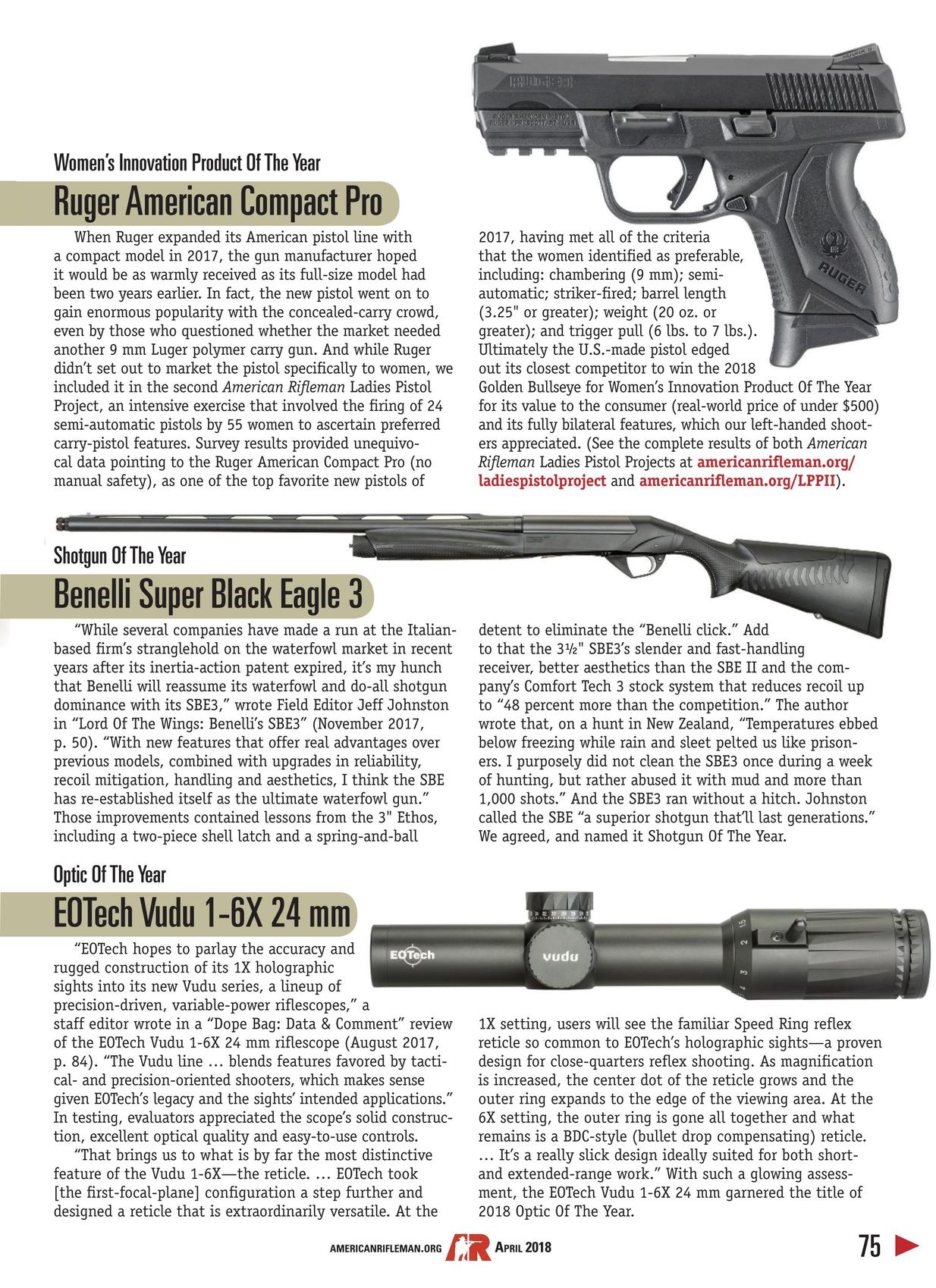 American Rifleman - April 2018