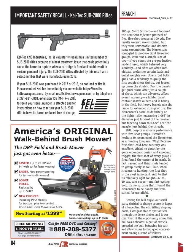 American Rifleman - July 2018
