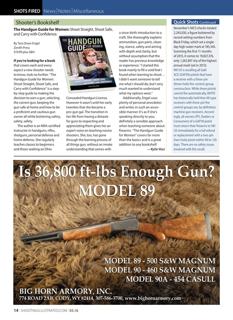 Shooting Illustrated - March 2016