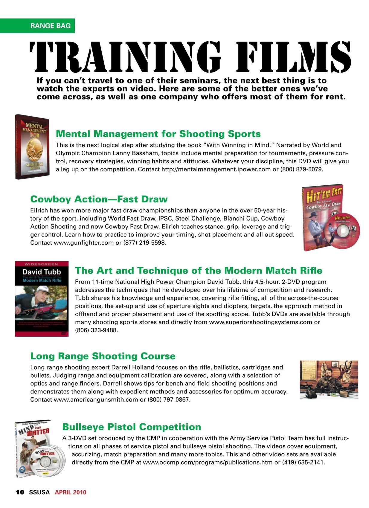 Shooting Sports USA - April 2010