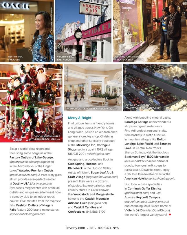 Milleridge Inn Christmas Village 2018.Ilny Travel Guide 2017 2018 Winter