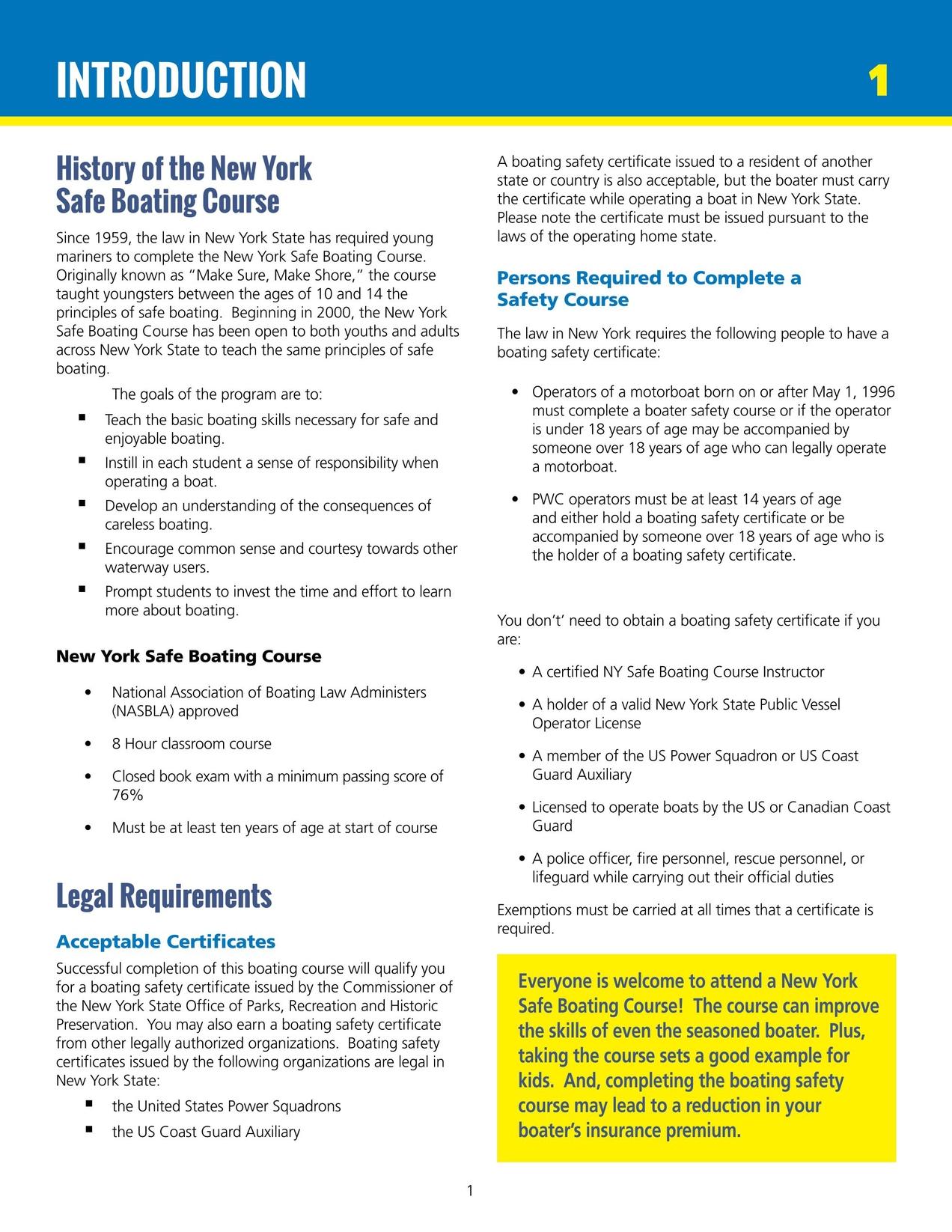 2015 New York Safe Boating