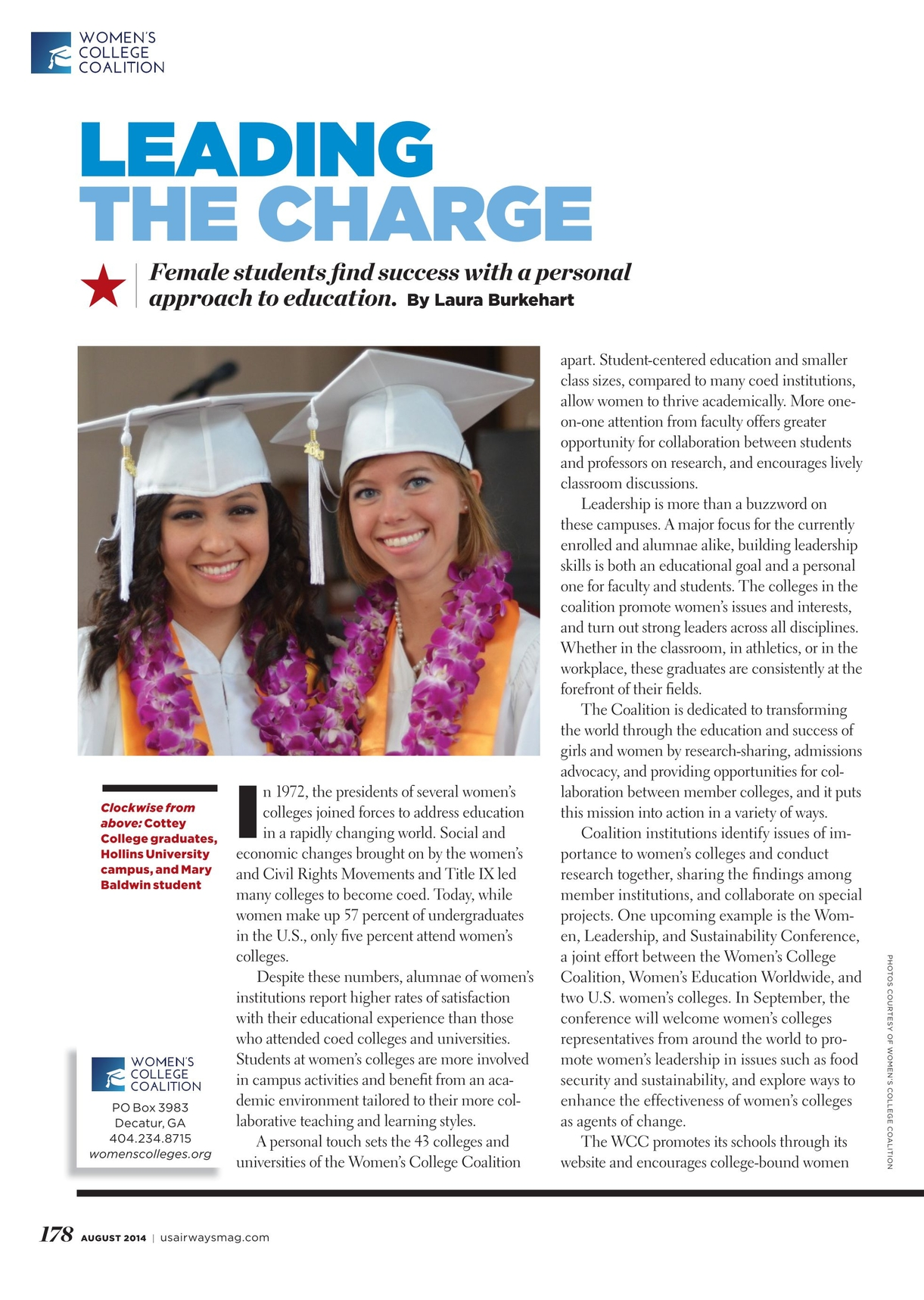 Us airways august 2014 178 179 us airways august 2014 page 178 leading the charge female students nd success with a personal approach to education by laura burkehart clockwise ccuart Images