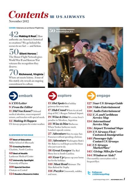Us Airways November 2012 - Us-airways-center-map