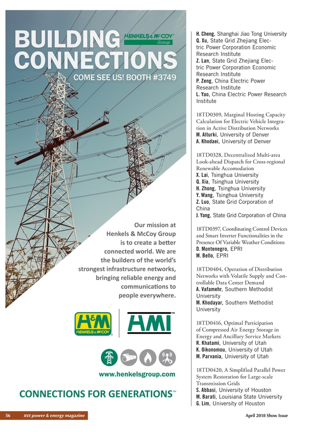 IEEE PES T&D Conference & Exposition 2018