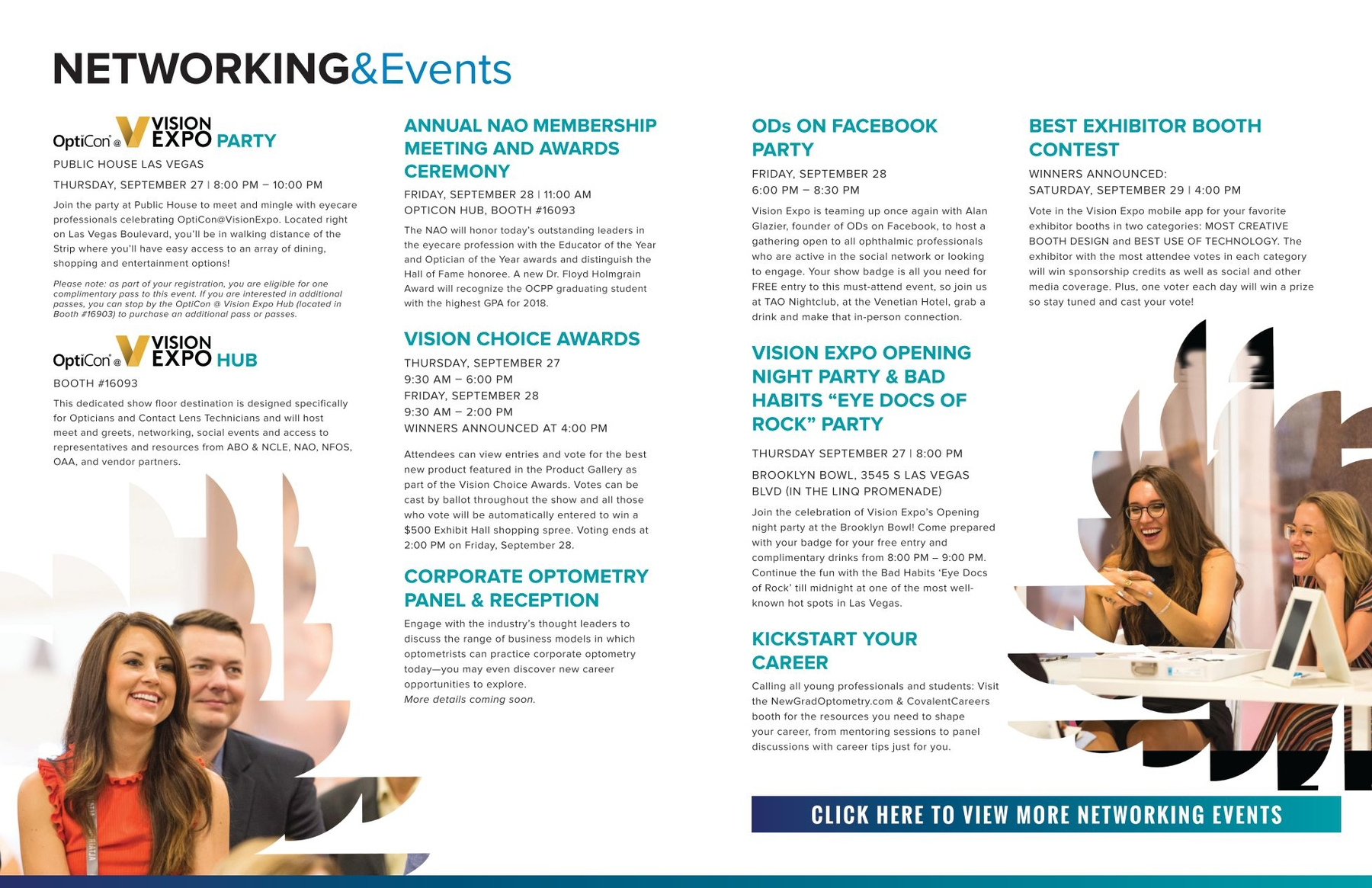 Vision Expo West 2018 Education Brochure Eyecare Professionals