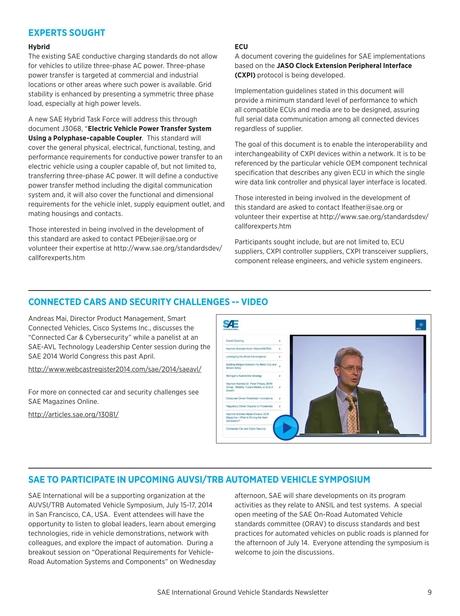 Ground Vehicle Standards Newsletter - June 2014