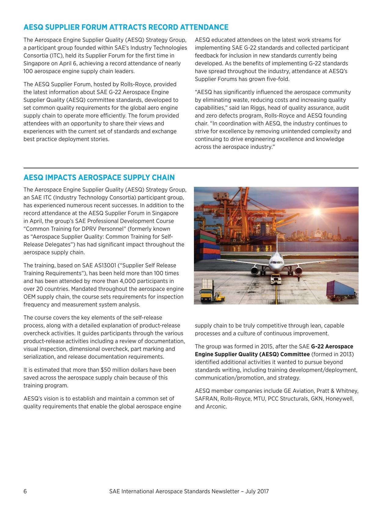 Aerospace Standards Newsletter - July 2017