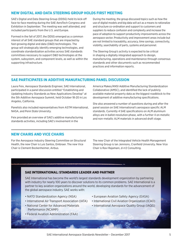 Aerospace Standards Newsletter 2018 Volume Ix Issue 1