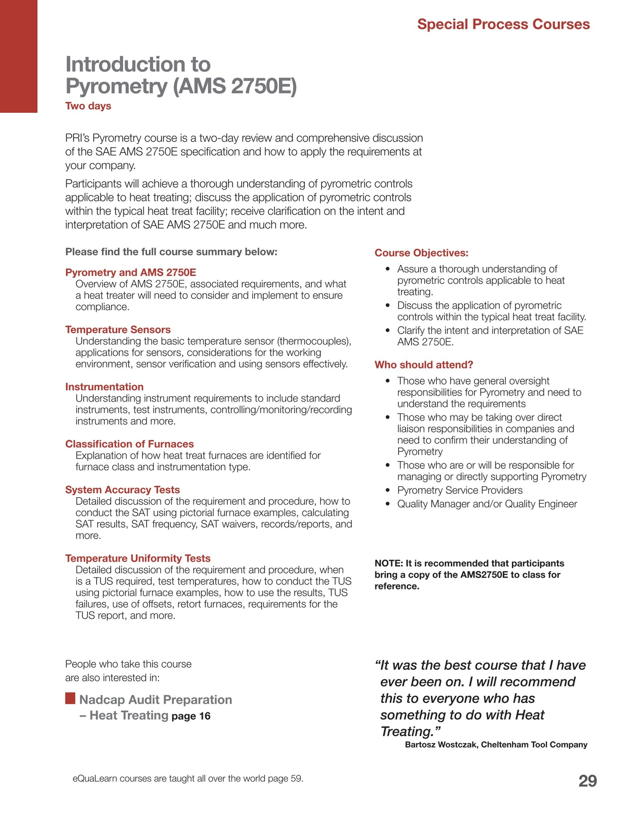 eQuaLearn Course Catalog - April 2015