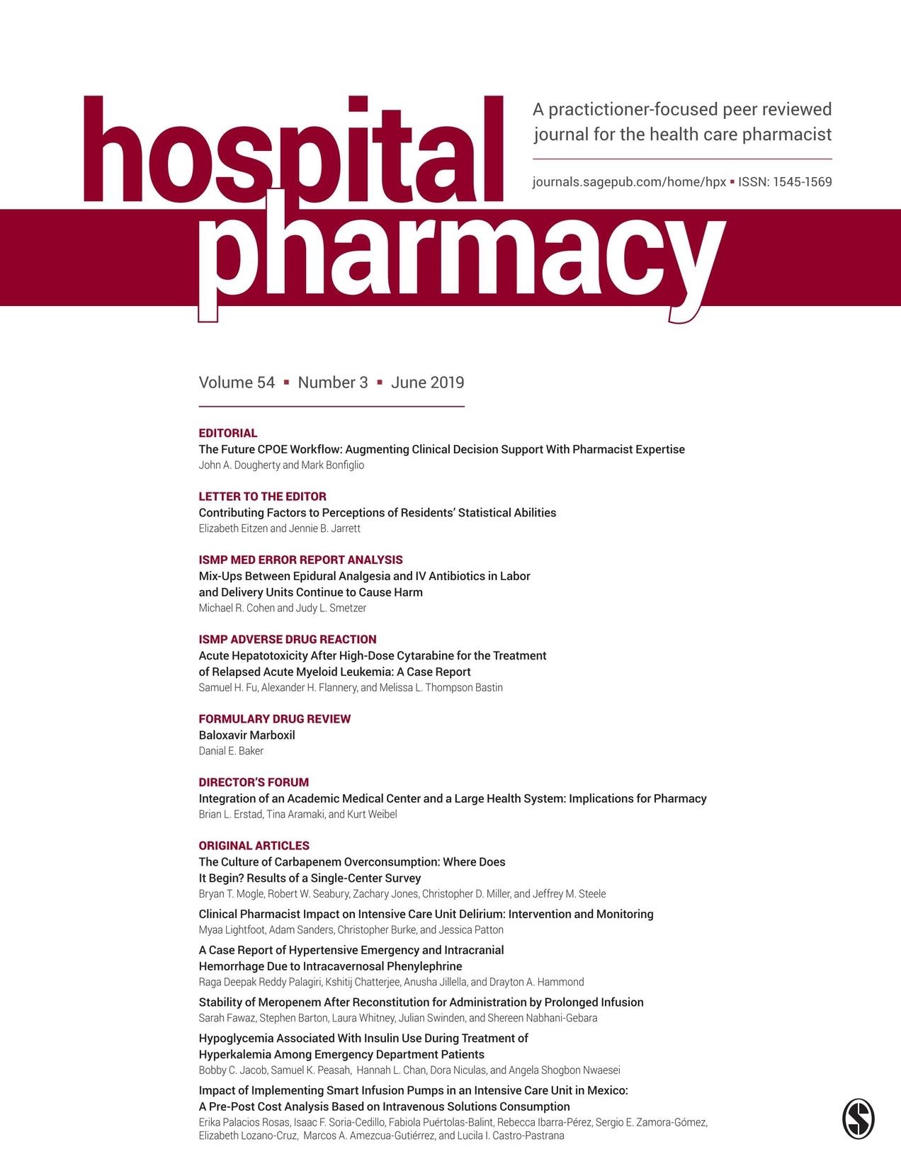Hospital Pharmacy - June 2019
